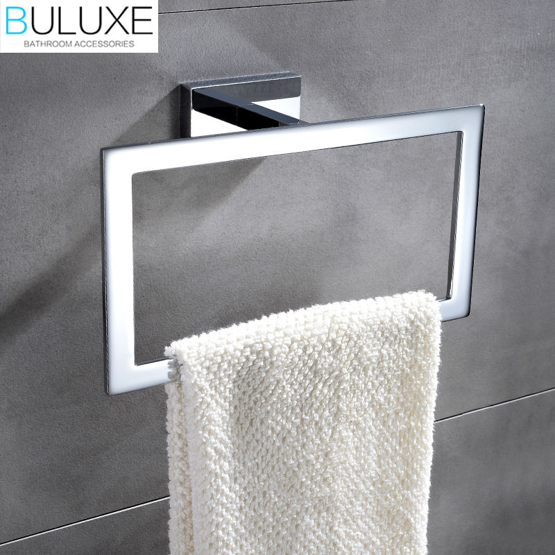 Buluxe brass bathroom accessories towel rack holder ring - Bathroom towel holders accessories ...