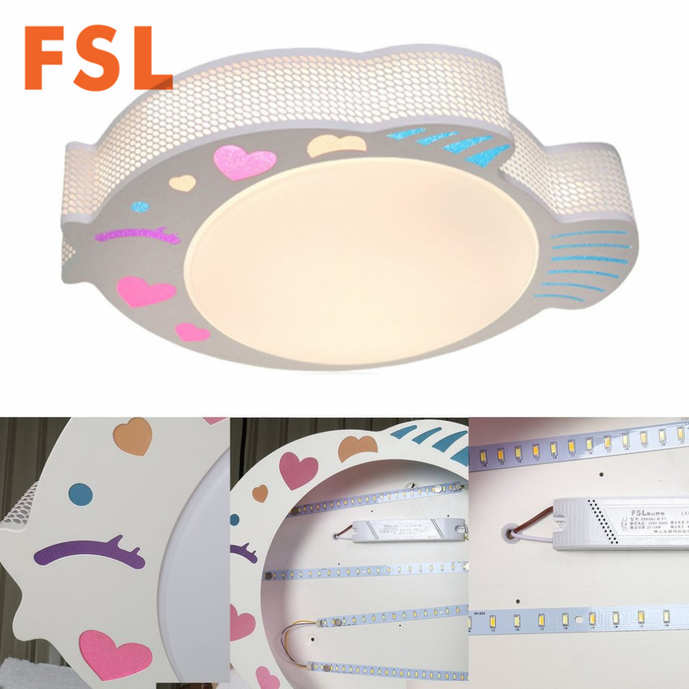 FSL 24W kreativni ribe u obliku akril LED stropno svjetlo 3 boja - Unutarnja rasvjeta - Foto 5