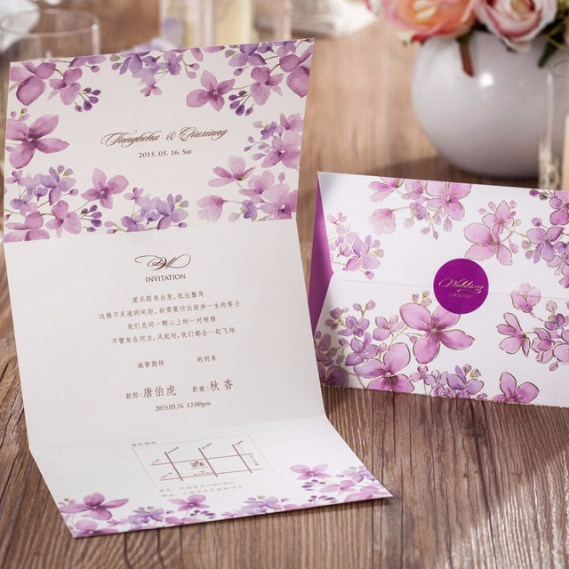 Floral Wedding Card Manufacturer From Hosur: Aliexpress.com : Buy Customizable Wedding Invitations