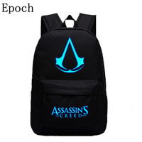 Epoch 2016 New Design Assassins Creed Backpacks Luminous 5 Colors Backpack Canvas Printing School Bags For
