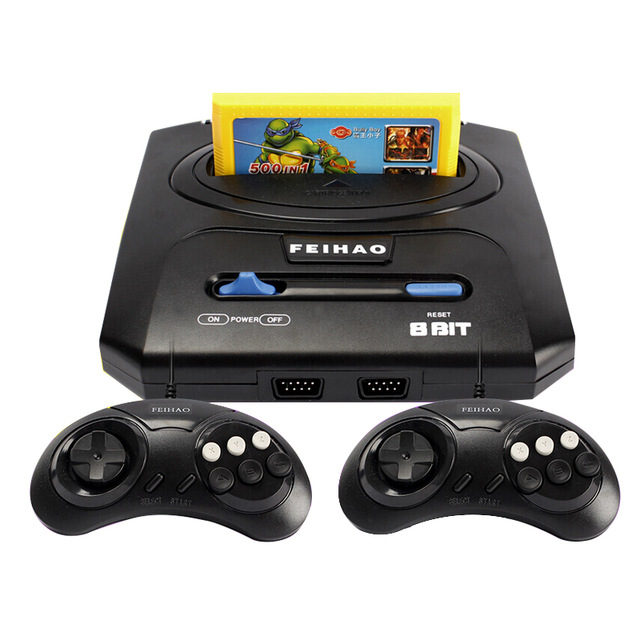 Handheld TV Video Game Console with Double Gamepads and Card Slot Supports AV Output