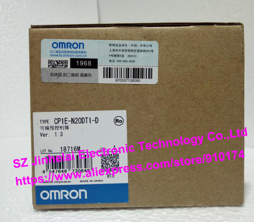 New and original CP1E-N20DT1-D  OMRON  PLC controller dhl eub 2pcs original for omron plc cp1e e10dt d new 15 18