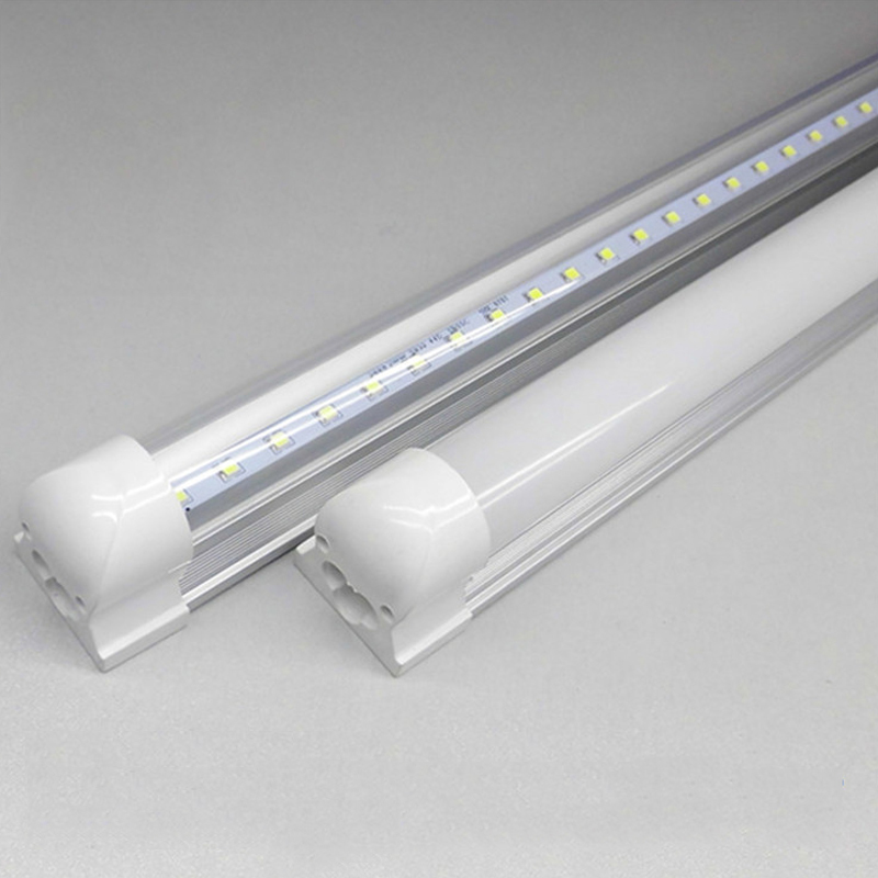 22W T8 integrated led Indoor 1200mm smd2835 ac85-265v clear/milky cover free shipping 10 50 meters pack 1m per piece led aluminum profile slim 1m with milky diffuse or clear cover for led strips