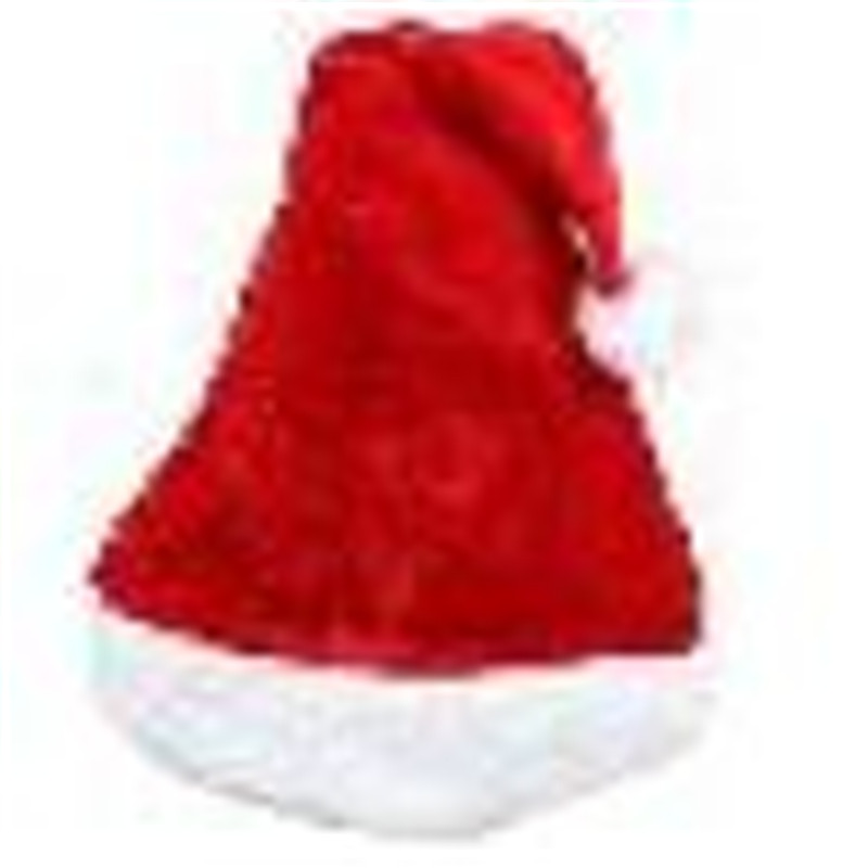 snowshine YLW Fashion Santa Claus Hat Plush Velvet Christmas Xmas Holiday Adult Costume free shipping