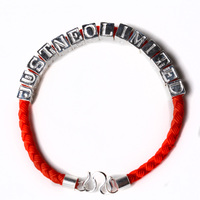 Customized Friendship Bracelets With Sterling Silver Charms And Parts For Women Men Girls Boys Name Phrase