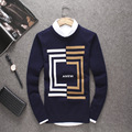 2016 Winter Men's Korean Young One-Neck Sweater Knitted Mens Full Sleeve Sweater Mens Knit  Sweater