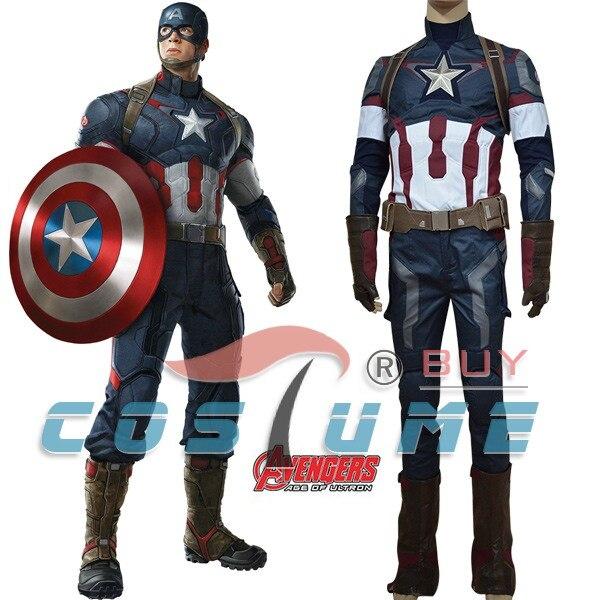 Костюм Капитана Америка Мстители Возраст Ultron Капитан Америка 2 костюм Стив Роджерс Косплэй костюм