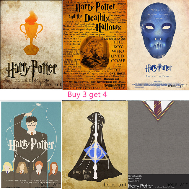 Harry Potter Poster Clear Image Wall Stickers Home Decoration Good