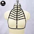 JLX.HARNESS Superior quality women neck sexy harness Harajuku Gothic lingerie cage bra bondage body harness bra