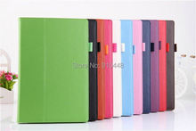 Free shipping New Classic litchi pattern pu leather stand holder case cover for Sony Xperia Tablet Z2 10.1 with stylus pen