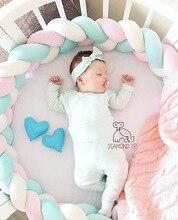 Nueva Nordic Plush Stuffer larga anudada trenza almohada cuna de bebé cojín Set Plush nudo almohada decoración de la habitación de bebé