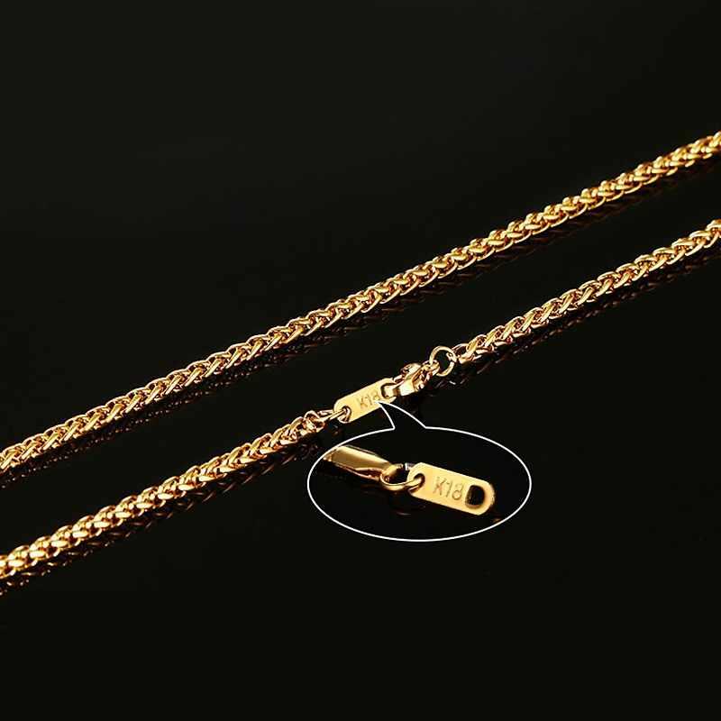 Vnox 24 cal złoty kolor łańcuch naszyjnik długi ze stali nierdzewnej metalowy wąż/kabel/okrągłe pudełko łańcuch