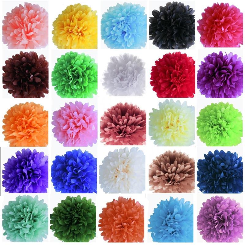 10pcs 4 Tissue Paper Pom Poms Paper Flowers Ball Wedding Home
