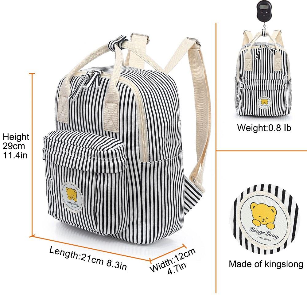 KINGSLONGแฟชั่นผู้หญิงกระเป๋าเป้สะพายหลังหญิงสำหรับสาวๆโรงเรียนลายWinlawกระเป๋าเป้สะพายหลังโรงเรียนขนาดเล็กกระเป๋าเป้-ใน กระเป๋าเป้ จาก สัมภาระและกระเป๋า บน   2