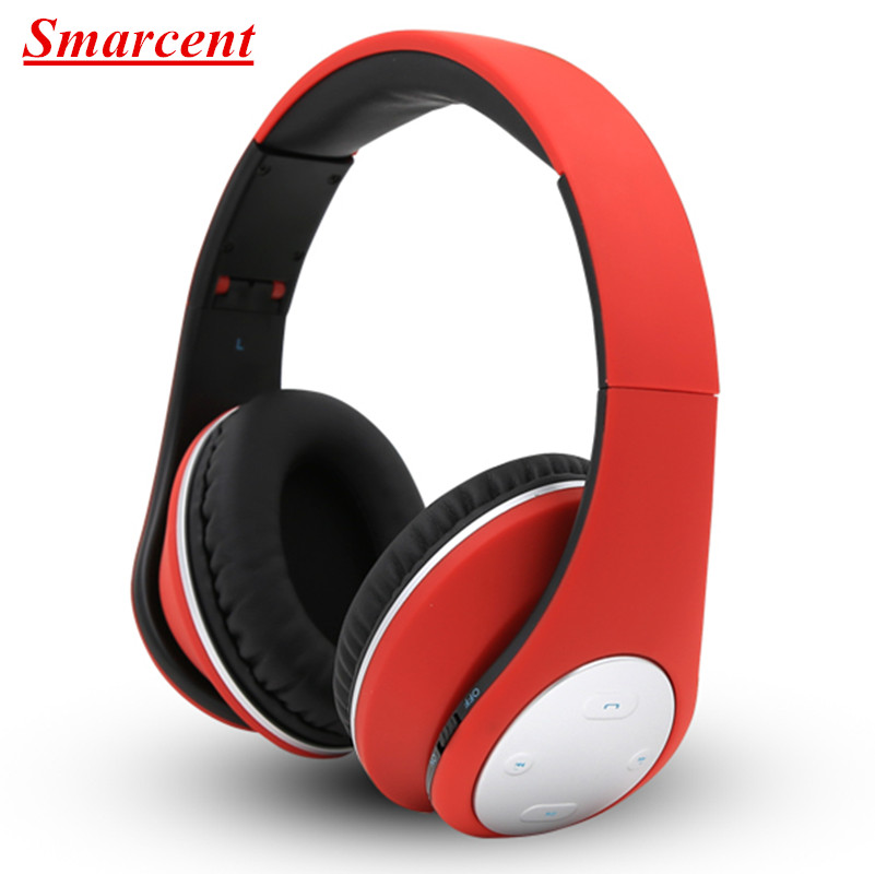 Smarcent Bluetooth Headphones Wireless Foldable Headband Earphone Stereo Bluetooth 4.1 Headset Handsfree Noise Cancelling Mic remax bluetooth 4 1 wireless headphones music earphone stereo foldable headset handsfree noise reduction for iphone 7 galaxy htc