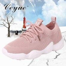 Ceyue для женщин прогулочная обувь весна сетки Slip on бег обувь Легкий вес женская спортивная обувь Zapatillas de mujer