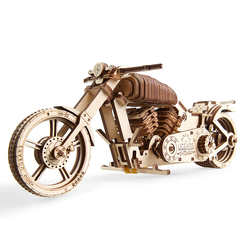 UGEARS Wooden Machinery Motorcycle Big Boy Birthday Valentine's Day Gift Assembling  Model