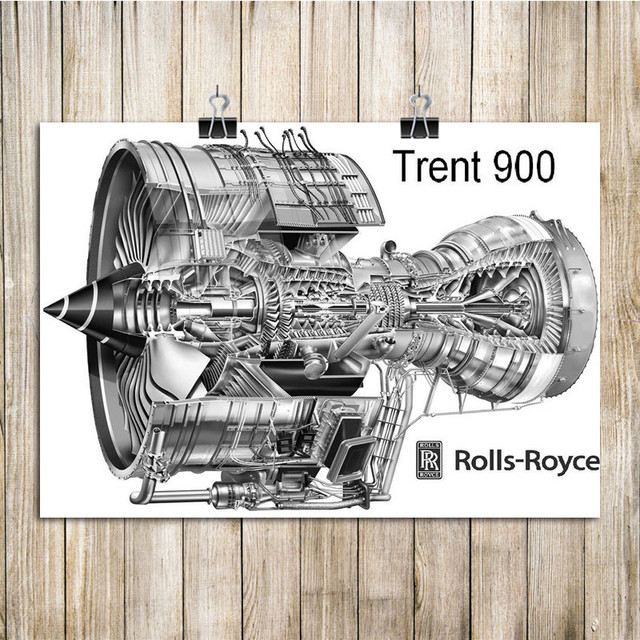 Fine Vintage Poster Aircraft Engine Structure Diagram House Decoration Wiring Digital Resources Bemuashebarightsorg