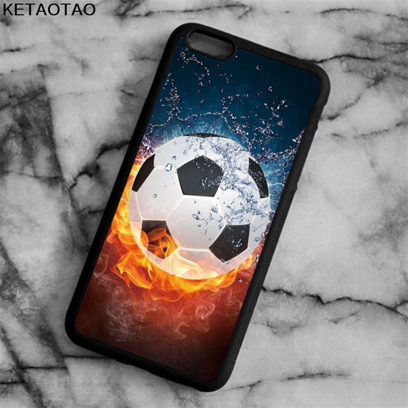 KETAOTAO Football Soccer Ball Pattern Phone Cases for iPhone 4S 5S 6 6S 7 8 X PLUS for Samsung S8 Case Soft TPU Rubber Silicone
