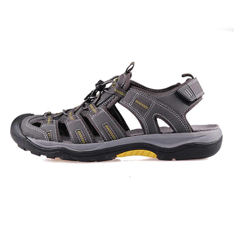 Grition Mannen Outdoor Sandalen Zomer Ademend Platte Zool Strand Schoenen Comfort Soft Wandelen Wandelen Sandalen Atletische Mannelijke Schoenen 2019