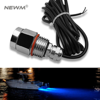 LED BOAT DRAIN PLUG LIGHT 9W LED Underwater Led Marine Light 100% IP68 Led Light for Yacht Boat Marine with Waterproof Connector