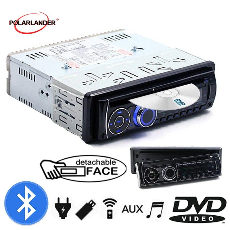 Autoradio stéréo avec télécommande BT Bluetooth panneau amovible 1 DIN Audio musique FM AUX en USB carte SD CD DVD lecteur MP3