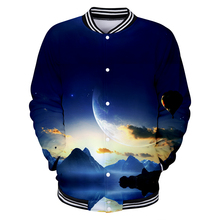 LUCKYFRIDAYF 3D Love Yourself Starry Sky Long Sleeve Baseball Jacket Men Clothes Hip Hop Kpop Casual Q1234-Q1241