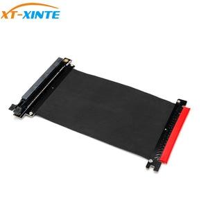 Image 2 - PCI Express x16 כדי PCIE x16 זכר לנקבה גרפיקה כרטיס Riser PCI E PCIE3.0 PCI E 16x סרט הארכת כבל עבור כרייה
