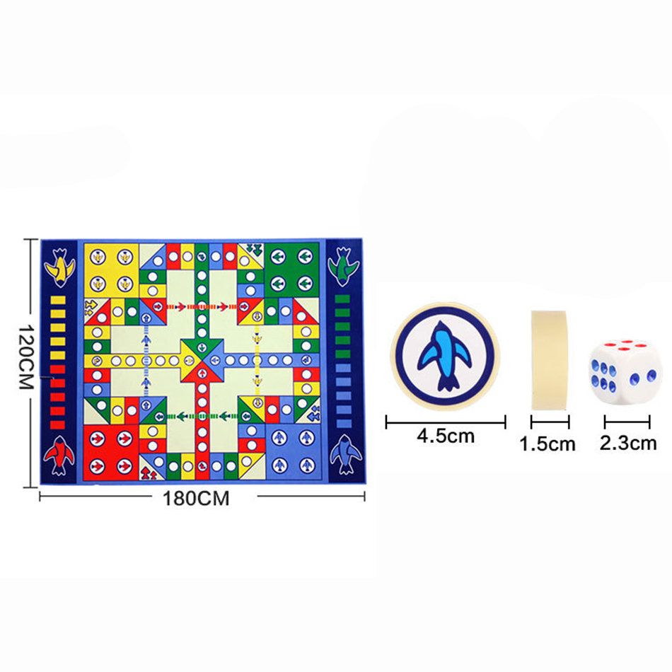 Aeroplane Chess Crawl Puzzle Mat Flying Set Waterproof Play Ludo Game Baby Children Educational WJ217 in Play Mats from Toys Hobbies