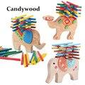 2018 nuevo elefante/camello equilibrio juguetes de madera para niños bloques de madera juguetes de juego para los niños de Montessori educativos juguetes para los niños