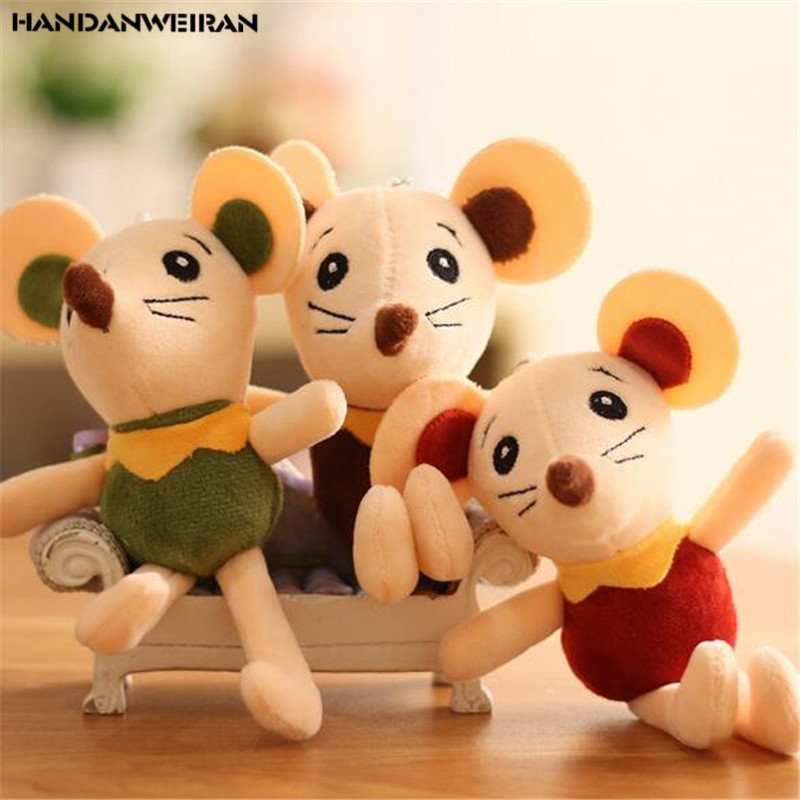 1PCS Creative Lace Plush Mouse Toys Small Pendant Mini Soft Stuffed Little Mice Toy Kids Playmate Boutique Holiday Gifts 18CM