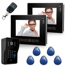 """Freeship de dhl 9 """"Pantalla TFT LCD de Video de La Puerta Teléfono Con Cámara de La Puerta de Acceso RFID 16 Tipos De Timbre Suena Puerta de Intercomunicación"""