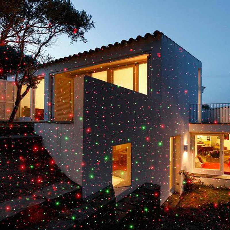 outdoor christmas laser lights waterproof laser light 2color laser star projector showers christmas halloween light projector