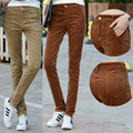Além de grande tamanho calças de veludo mulheres esticado calças primavera outono calças lápis de corpo inteiro do sexo feminino casual pantalon femme