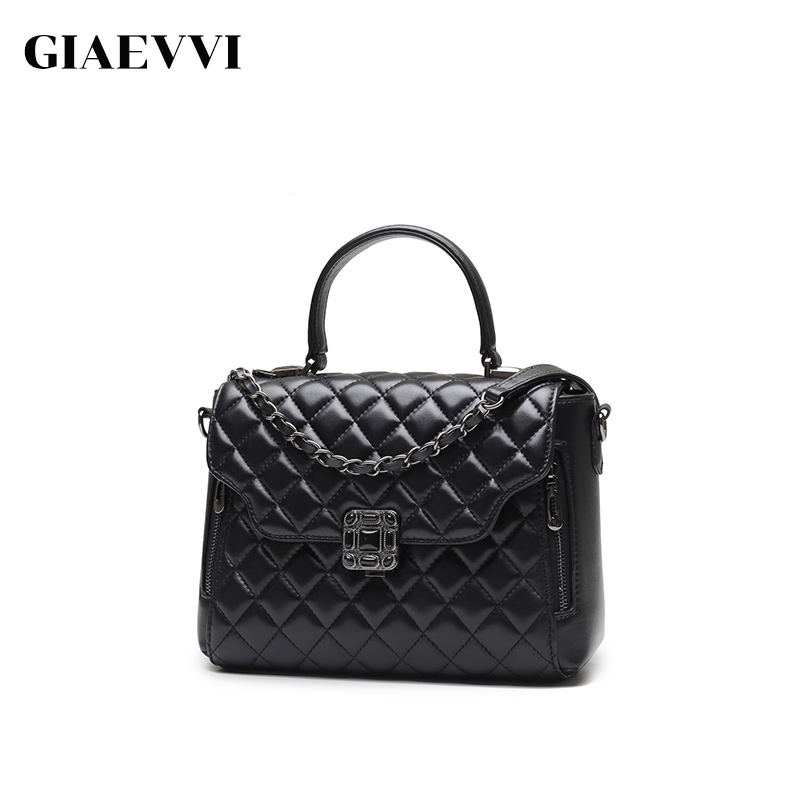GIAEVVI Luxury handbag women genuine leather handbag messenger bags fashion tote shoulder bag ladies crossbody for girls giaevvi luxury handbags split leather tote women messenger bags 2017 brand design chain women shoulder bag crossbody for girls