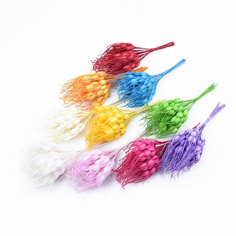 10 pcs piante Artificiali per la decorazione di natale fiori Vasi per la casa da sposa accessori da sposa di liquidazione falso fai da te spighe di Grano