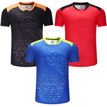 New CHINA Dragon table tennis shirts Men , ping pong sport shirts , Chinese table tennis clothes , table tennis Trainning Shirts(China)