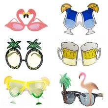 6072eef11b Novedad de Hawaii gafas de sol de flamenco rosa gafas tropicales de piña  suministros de fiesta