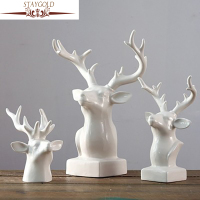 STAYGOLD Modern Minimalist Decor Deer Head Gift Home Decoration Accessories Enfeites Para Casa Ev Dekorasyon Aksesuarlar Ceramic