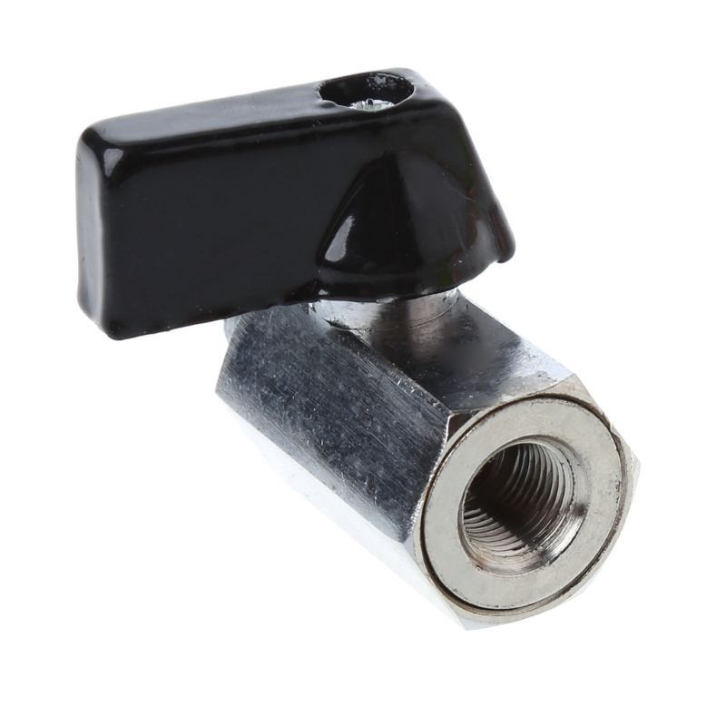Messing Mini Ball Ventil 1/2 3/8 1/4 1/8 Bsp Stecker Auf Innengewinde Luft Kompressor Schlauch Ventil Sanitär