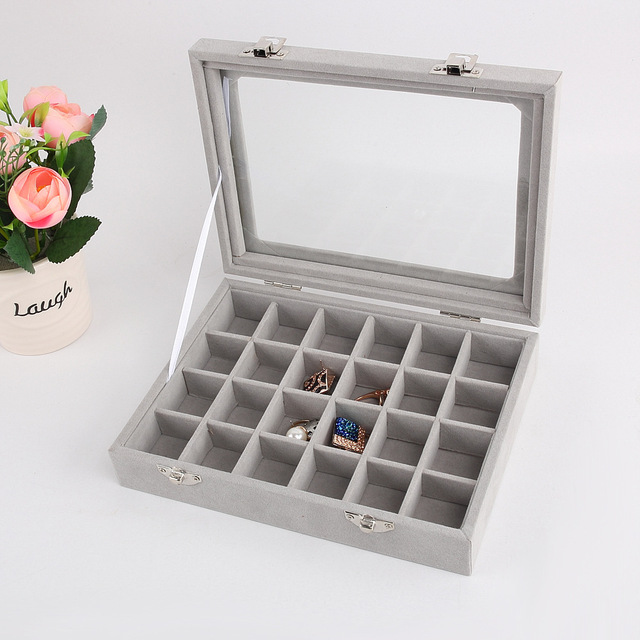 Aliexpresscom Buy Velvet Glass Jewelry Display Box 201545cm