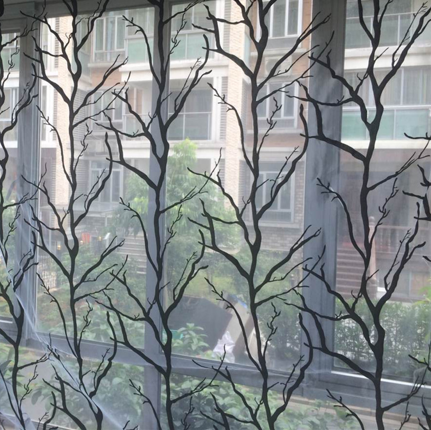 Aliexpresscom  Buy Free shipping tree branch floral window tulle curtains voile sheer curtain