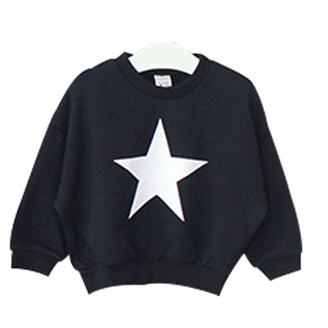 Children's Clothing 2016 Autumn Fashion South Korea boys girls stars Pattern Jumper Baby kids Sweaters cotton fleece shirt