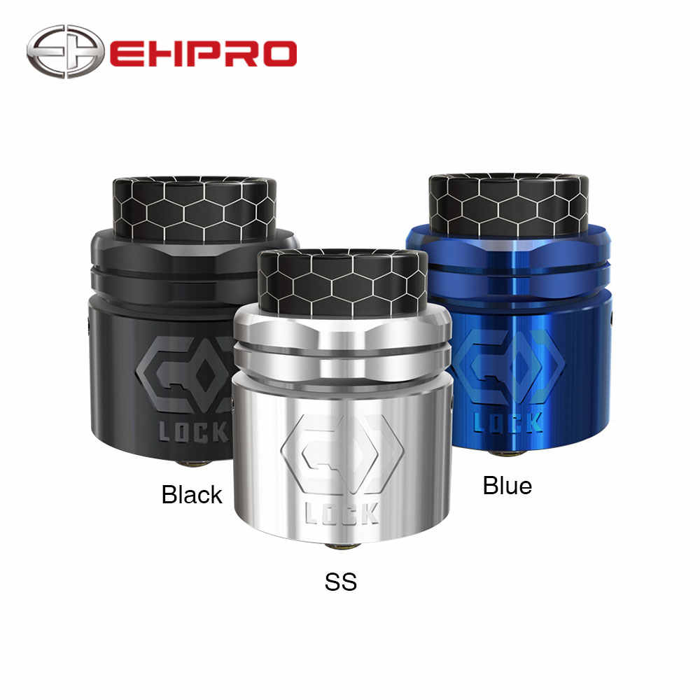 New Original Ehpro Lock Build-free RDA Tank Atomizer 24mm RDA Tank with Press-style Coil Installation & Extra BF Pin Vs Loop RDA
