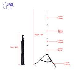 2.4m/6.6ft Light Stand Tripod 1/4 Screw for Studio Photo Video Lighting Softbox Flashgun Lamps Umbrella Background