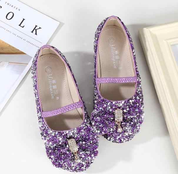 9f945d18b9a1 ... HaoChengJiaDe Princess Kids Leather Shoes For Girls Flower Casual Glitter  Children Girls Shoes Butterfly Knot Blue ...