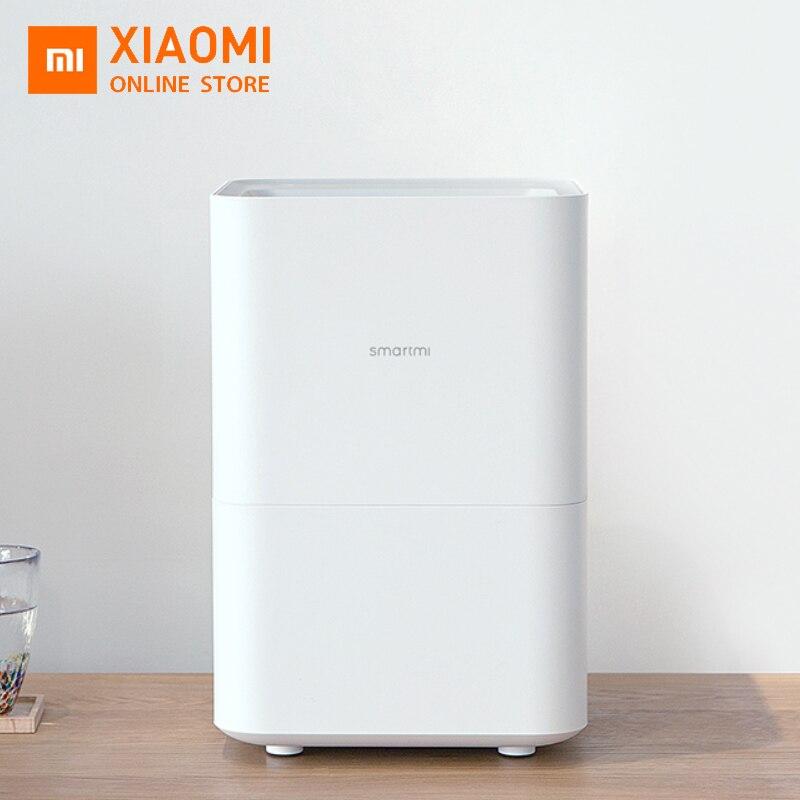 Original xiaomi zhimi smartmi umidificador de ar 2 puro evaporativo tipo névoa-livre umidade do ar natural umidificador mudo controle do aplicativo