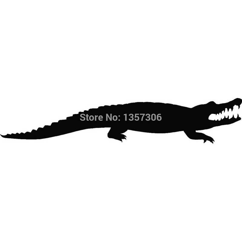 Hot Sale Crocodile Sticker Alligator Car Window Decal Truck Bumper Auto SUV Door Vinyl 9 Colors