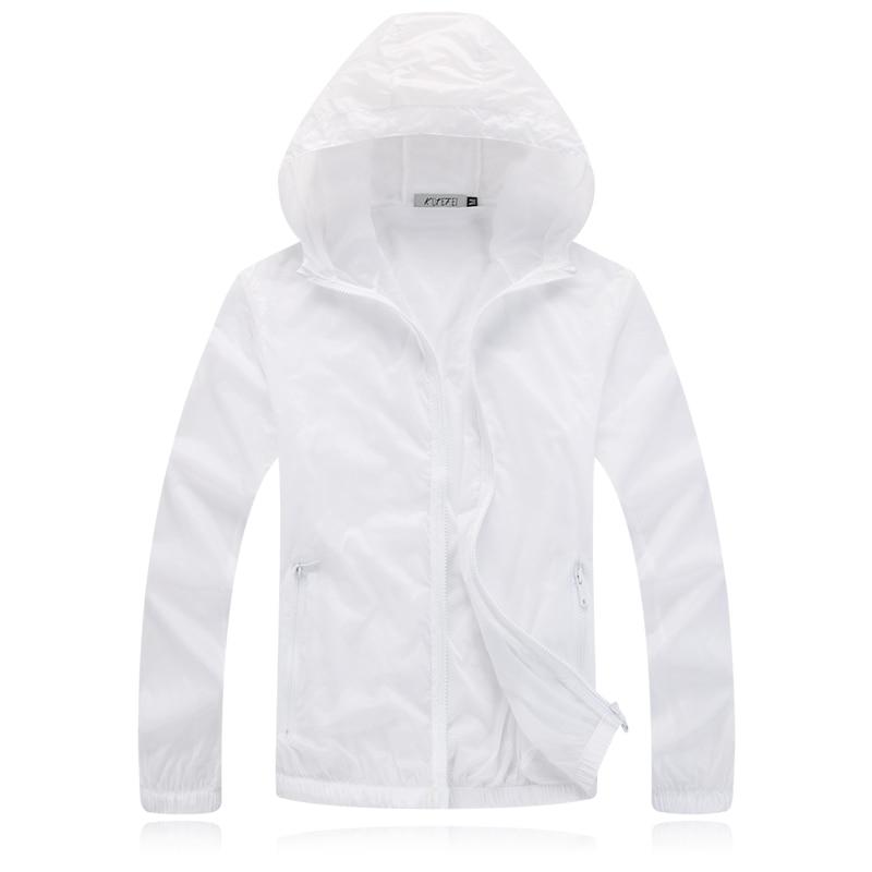 Sun Pakaian Pelindung Musim Semi Musim Panas Kasual Lengan Panjang Jaket Mantel Tipis Wanita Pria Pakaian Unisex 5 Warna M-3XL