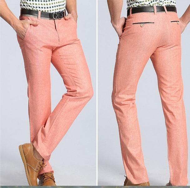 pink linen pants for men - Pi Pants